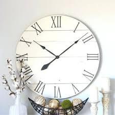 white wood wall clock cream white wood clock decor large wall clock modern wood decor farmhouse wall decor farmhouse clock