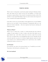 how to write a memo effective business communication lecture handout the document