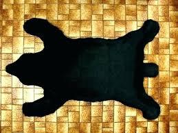 bear skin rug no head blanket polar regarding rugs grizzly buffalo faux database fake
