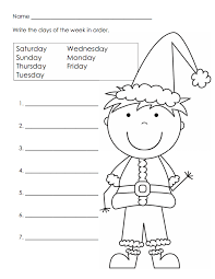Hair Color References Christmas Worksheet Kindergarten Pdf With ...
