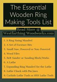 Essential Wooden Ring Making Tools List