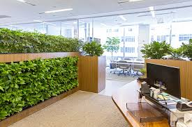 green wall office. Indoor Living Wall Projects. Midtown Office Chic Green