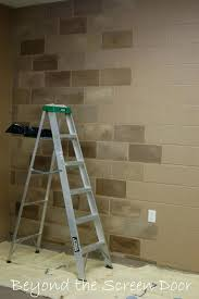 diy wall coverings classy basement covering ideas walls painting concrete block rustic
