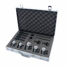 sound system with microphone. vocal instrument kick drum set microphone professional sound system microfones mikrofon set microphon with nice e