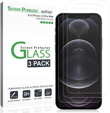 Amazon.com: amFilm Glass Screen Protector Compatible for iPhone 12 Pro Max  (6.7