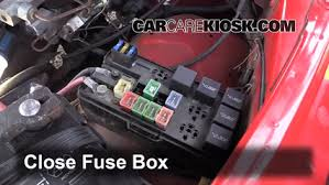 replace a fuse 1994 2001 dodge ram 1500 1995 dodge ram 1500 5 2 6 replace cover secure the cover and test component