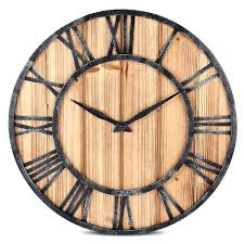 vintage style wall clocks vintage style wall clock round solid wood metal wall clock retro big