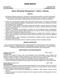 Professional Retail Store Manager Resume Senior Marketing Management