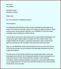 Cease and Desist Letter Harassment Word Format