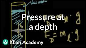 Pressure At A Depth In A Fluid