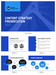Strategy Presentation Blue Content Strategy Presentation Template