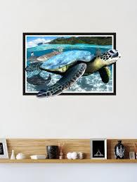 decals sea turtle wall sticker pvc vinyl 76 cm