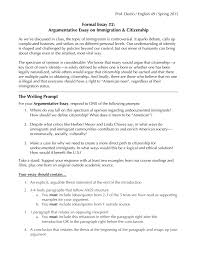 formal essay argumentative essay on immigration