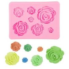 <b>3D DIY</b> Roses Shaped <b>Soft Silicone</b> Mould Fondant Chocolate Cake ...