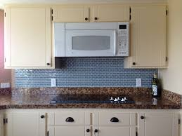 Large Tile Kitchen Backsplash White Ceramic Subway Tile Kitchen Backsplash With Glass Accent