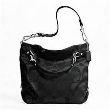 Authentic Coach Signature Brooke Large Hobo Bag 16619 Black black