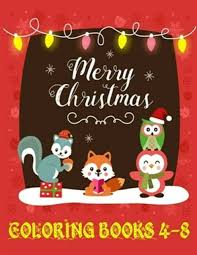 merry christmas coloring books 4 8