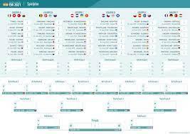 EM Spielplan 2021 chronologisch - Datum + Uhrzeit