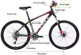 mountain bike sizing
