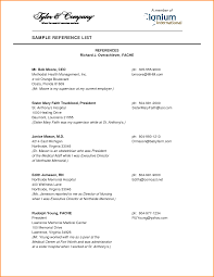 Resume Remarkable How To List References On Of Format Sample