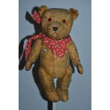 old teddy bear doll friend mohair jointed pouty bear leather paws oldeclectics ruby lane