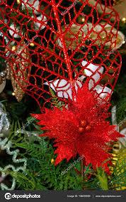 Gold Weiß Und Rot Christbaumschmuck Stockfoto Elrivera
