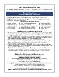 Extraordinary Human Resource Resume Skills On Human Resources