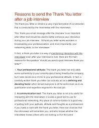 interview thank you letter template  samples thank you  thank you letter after a job interview