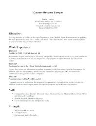 experience as a cashier cashier on resume yuriewalter me