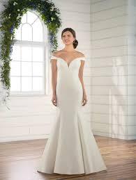 Essense Designs Australia Off The Shoulder Mikado Gown Kleinfeld Bridal