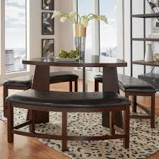 Furniture Triangle Dining Table With Benches Triangular
