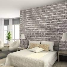 brick wallpaper bedroom brick wall