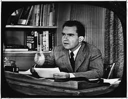 "just plain dick richard nixon s checkers speech and the rocking  richard nixon gives his famous ""checkers speech"" on tv"