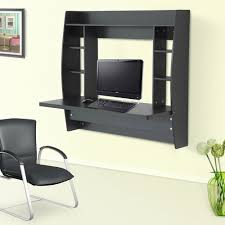 wall mounted office. Floating Desk Wall Mounted Office Workstation Computer Table Study Storage Rack