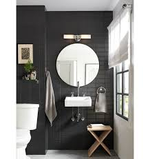 Bronze Mirror Bathroom Modern And Elegant Our Graydon Double Wall Sconce Features White