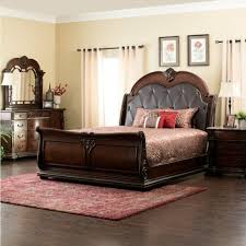 Coventry Queen Bed, Dresser, Mirror & Nightstand in Cherry