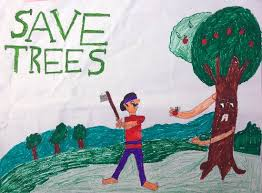 paintings by gurdit singh save trees part of child artists directory on