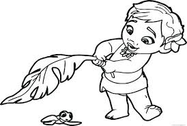 Coloring Pages Free Printable Disney Moana Coloring Pages Color