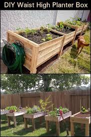 diy raised garden vegetable planter boxes