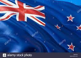 New Zealand flag. 3D Waving flag design ...