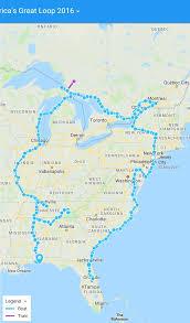 Great Loop Charts 2016 Map Voyaging Americas Great Loop Aboard Still Waters Ii