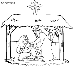 Small Picture Printable Christmas Coloring Pages Sunday School