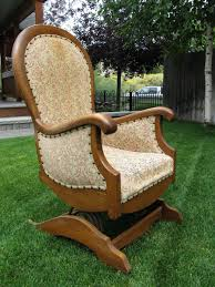 platform spring rocking chair collectors weekly antiques branches chairs for nursery under custom wood used dining