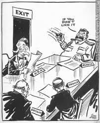 open door policy. M965.199.9762   Russian Open Door Policy. Drawing, Cartoon John Collins Policy