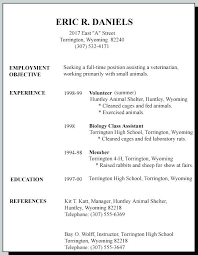 Resume Examples For Jobs Classy Example Job Resume Student Job Resume Examples Part Time Resume