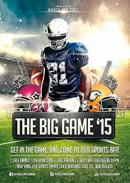 football flyer templates download big game football flyer template