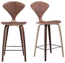 bar and bar stools. Kardiel Manta Modern Barstool Chair 2 Piece Set Walnut Bar And Stools
