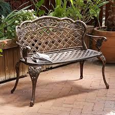 aluminum garden bench. Modren Aluminum Santa Fe Cast Aluminum Garden Bench By Great Deal Furniture And L