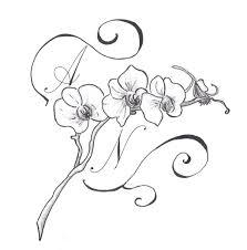40 Cards In Collection эскизы татуировок с орхидеями Of User ольга