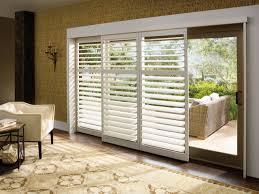 sliding glass doors with window treatment